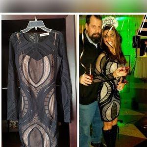 Dresses & Skirts - Black & nude mesh dress Xs-S